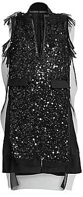 Sacai Women's Sequin-Embroidered Dress