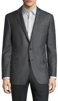 Brooks Brothers Wool Sharkskin Notch Lapel Sportcoat