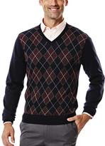 Haggar V Neck Argyle Sweater