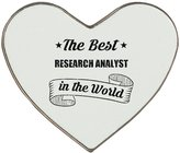 Fotomax Heartshaped fridge magnet with THE BEST Research Analyst IN THE WORLD
