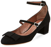 Tabitha Simmons Rubia Suede Double-Buckle Pump, Black