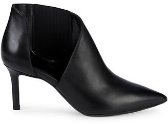 Aquatalia Mina Asymmetric Leather Ankle Boots
