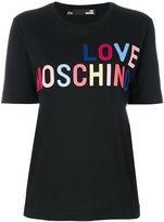 Love Moschino logo print T-shirt