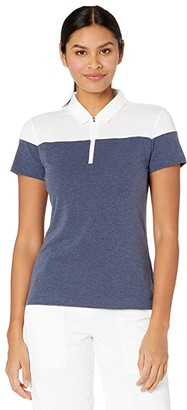 Puma Color-Block Polo (Peacoat Heather) Women's Clothing