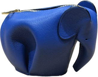 Loewe Animals Blue Leather Purses, wallets & cases