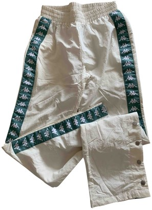 Kappa White Trousers for Women