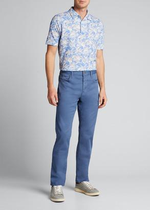Isaia Men's Floral Polo Shirt