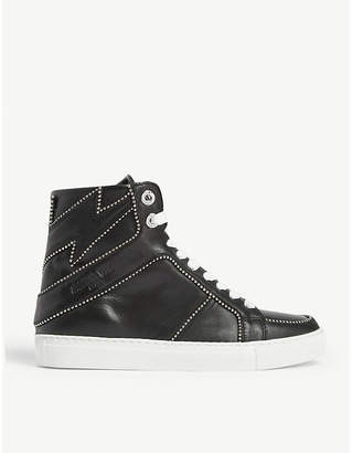 Zadig & Voltaire ZADIG&VOLTAIRE ZV1747 stud bolt leather high-top trainers