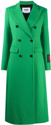 MSGM Double-Breasted Wool Coat