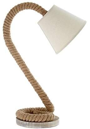 Premier Housewares Maine Table Lamp with Fir Wood/ Hemp Rope Base, Natural, E14, 40 watts