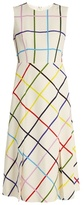 Mary Katrantzou Osmond sleeveless checked crepe dress