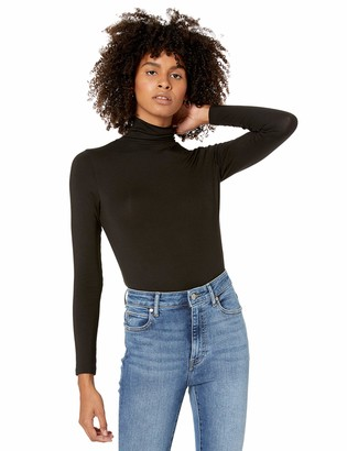 The Drop Women's Phoebe Long-Sleeve Turtleneck Fitted T-Shirt