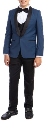 Perry Ellis Indigo Blue 5-Piece Tuxedo Set (Big Boys)