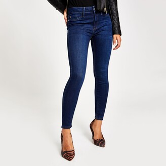 River Island Womens Petite denim mid rise skinny Molly jeggings