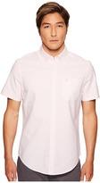Original Penguin Stripe Oxford Shirt Men's Short Sleeve Button Up