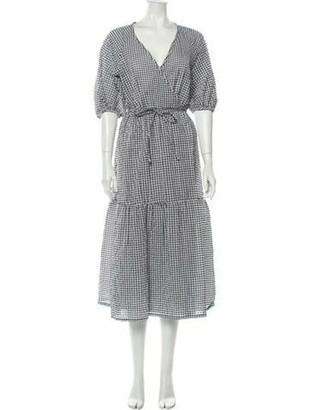 Ottod'ame Plaid Print Long Dress w/ Tags Grey