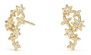 David Yurman Starburst Constellation Climber Earrings in 18K Gold with Diamonds