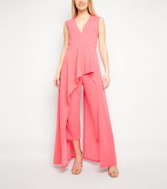 New Look Miss Attire Bright Ruffle Jumpsuit