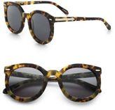 Karen Walker Super Duper Strength Round Sunglasses/Tortoise