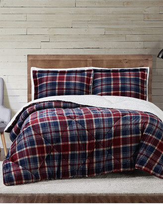Truly Soft Cuddle Warmth Printed Plaid Comforter Set