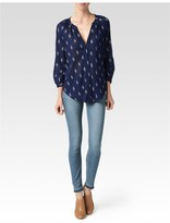 Paige Sammy Top - Evening Blue/Birch/Cedar-Ikat