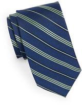 Black Brown 1826 Diagonal Striped Silk Tie