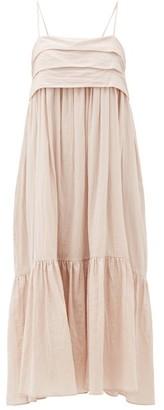 Loup Charmant Iliana Bow-back Organic-cotton Dress - Pink