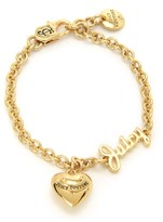Juicy Couture Girls Heart Charm Bracelet