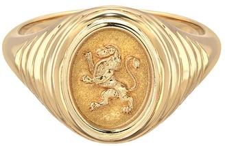 Retrouvaí Fantasy Lion Signet Ring - Yellow Gold