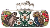 Alexander McQueen Woodland Embroidered Knuckle Box Clutch Bag