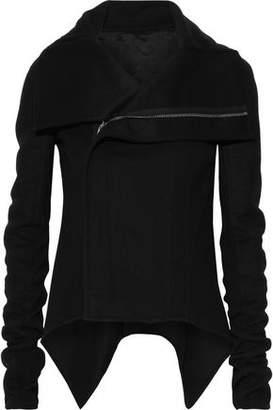 Rick Owens Ribbed Knit-paneled Wool-blend Jacket