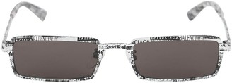 Balenciaga 0082s Graphic Rectangle Metal Sunglasses
