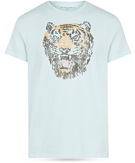 John Varvatos Tiger Head Graphic Tee