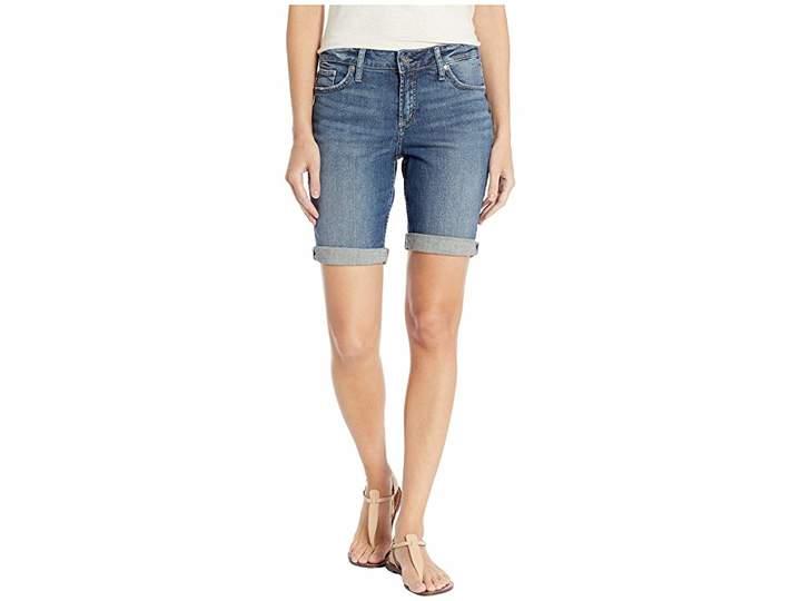 Silver Jeans Co. Elyse Mid-Rise Curvy Fit Bermuda Shorts in Indigo L53015SJL373