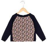 Jacadi Girls' Floral Print Long Sleeve Sweatshirt