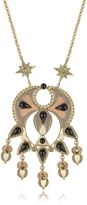 Roberto Cavalli Gold-tone and Enamel w/Multicolor Crystals Long Necklace
