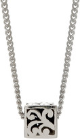 Lois Hill Sterling Silver Signature Cutout Baby Block Pendant Necklace