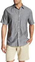 Faherty Short Sleeve Regular Fit Woven Shirt