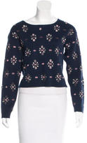 Opening Ceremony Embellished Bateau Neck Sweater w/ Tags