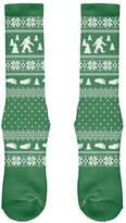 Old Glory Sasquatch Ugly Christmas Sweater All Over Crew Socks - Boys/Men 9