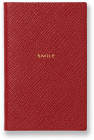 Smythson Panama Smile Leather Notebook