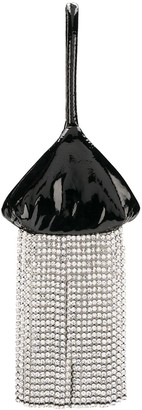 Christopher Kane Crystal Fringe Patent Bag