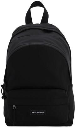Balenciaga Double Explorer Nylon Backpack W/Logo