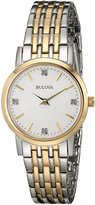 Bulova Women's 98P115 Diamond White Dial Bracelet Watch