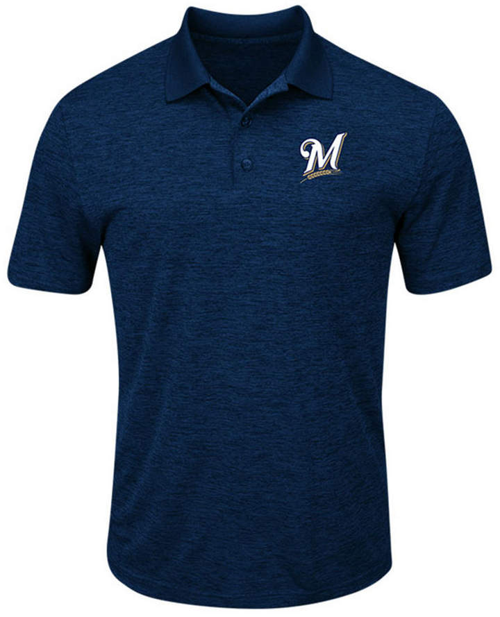 Majestic Men Milwaukee Brewers First Hit Polo Shirt