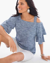 Chico's Chambray Cold-Shoulder Top