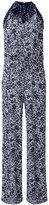 MICHAEL Michael Kors floral tie-neck jumpsuit - women - Polyester/Spandex/Elastane - S