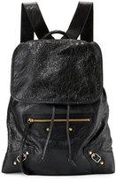 Balenciaga Classic Traveler Small Leather Backpack, Black (Noir)