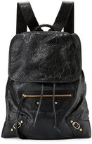 Balenciaga Classic Traveler Small Leather Backpack, Black
