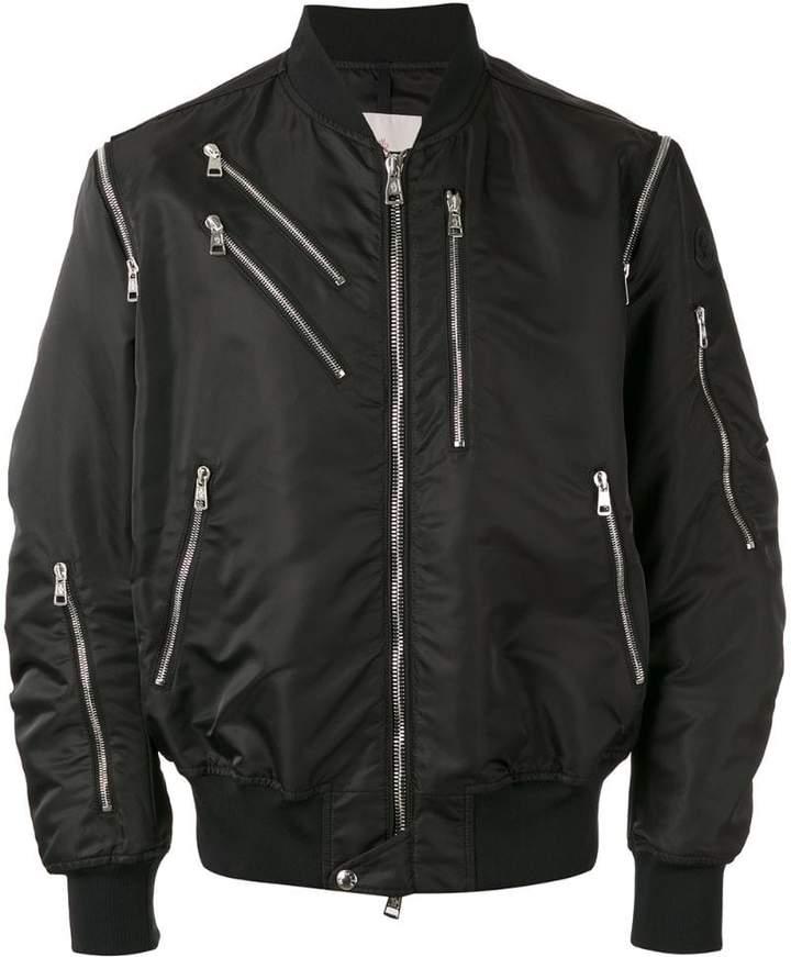 Moncler zip detail bomber jacket